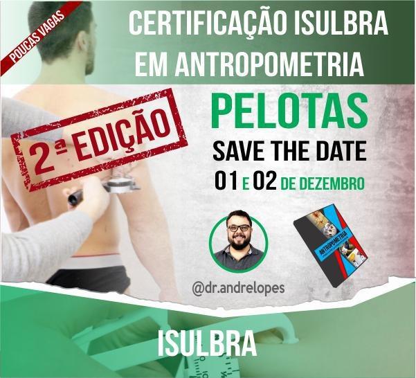 Curso para Certificação em Antropometria - Pelotas