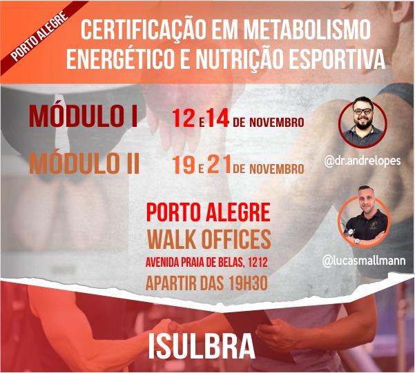 Curso para Certificação em Metabolismo e Nutrição Esportiva
